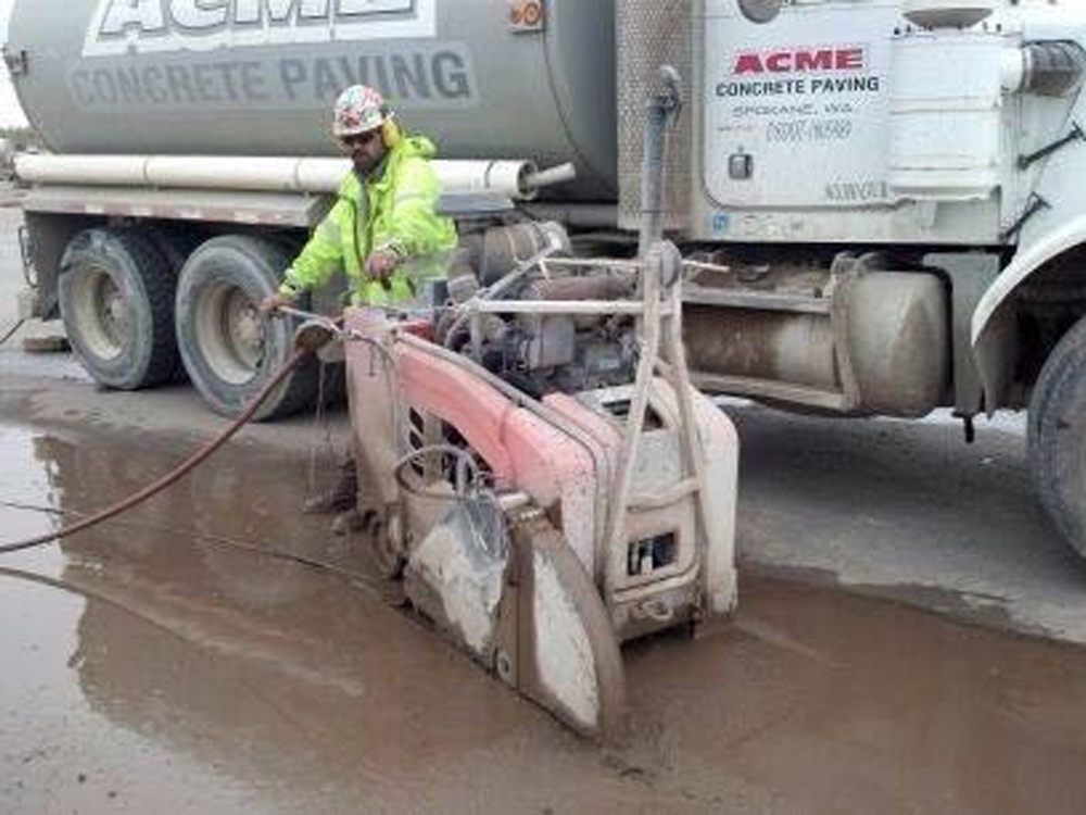 Saw Cutting and Sealing - ACME Concrete Paving